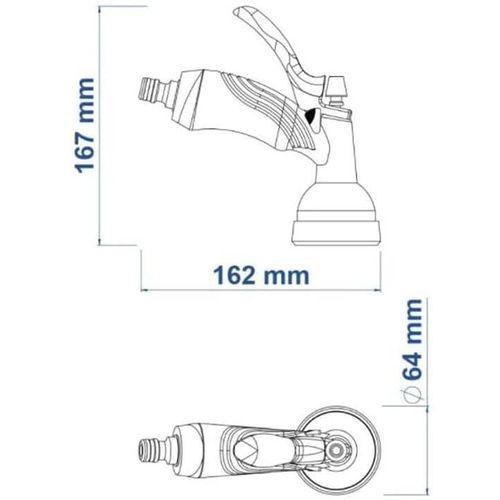 Hidropistola Multifunção Plástica para Engate Rápido - TRAMONTINA