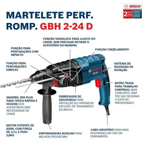 Martelete-Perfurador-Rompedor-820w-27J-GBH2-24---BOSCH