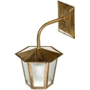 Arandela-Colonial-Sextavada-Pequeno--ouro-velho----IDEAL